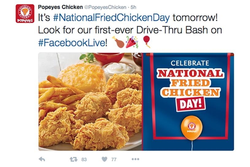 Popeyes Takes To Facebook Live To Bring A Drive Thru To Chicken
