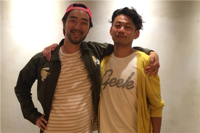 Hisaya Kato, AOI Pro (left) and Tetsushi Kawachi, Tokyu Agency, at the AOI Pro offices in Tokyo.