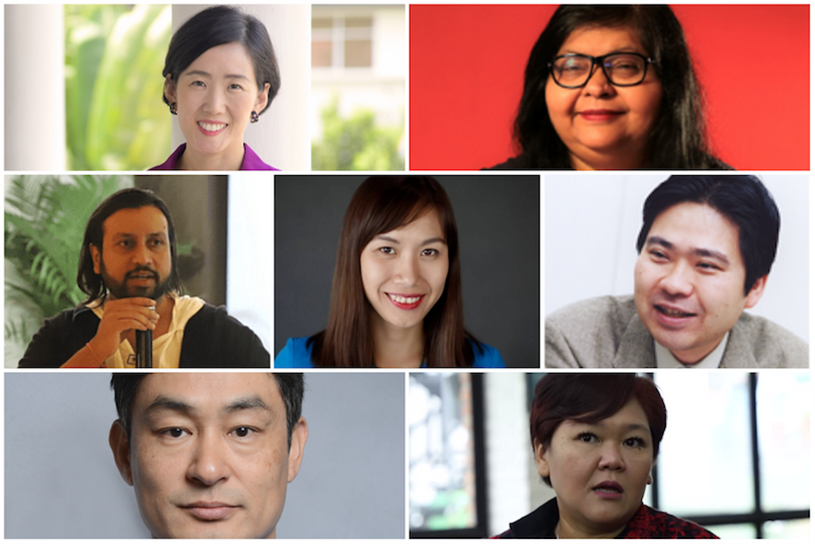 L-R, top: Yuhyun Park, Jehan Ara; L-R, middle: Amitabh Kumar, Nguyen Phuong Linh, Akira Sakamoto; L-R bottom: Seungwoo Son, Anita Wahid