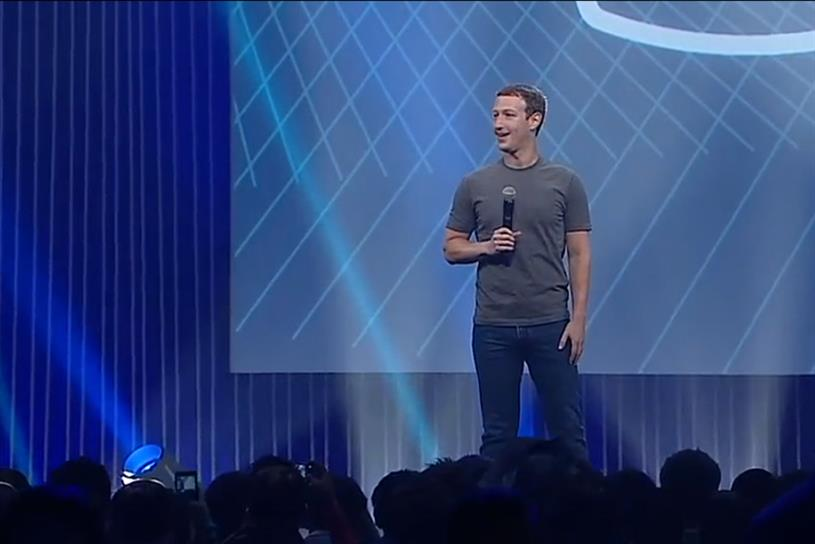 Facebook CEO Mark Zuckerberg at F8.