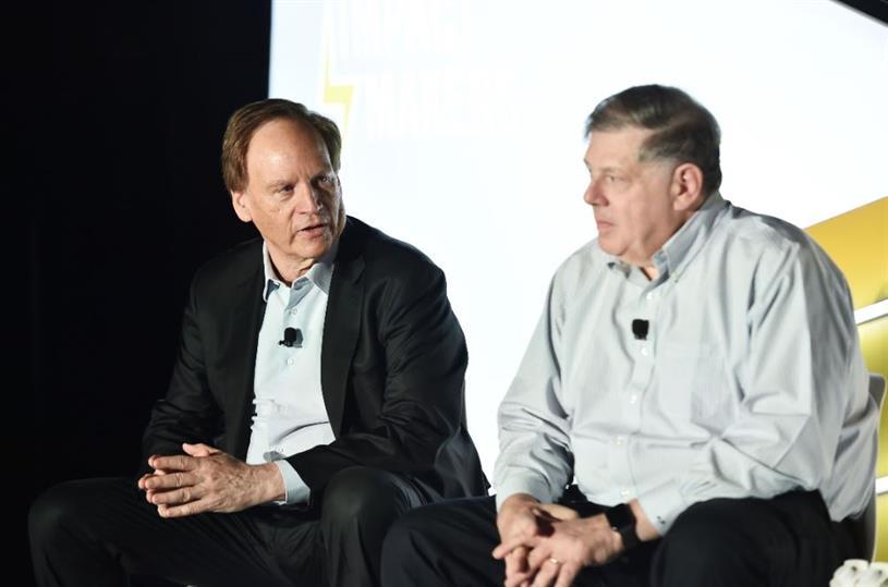 Harris Diamond (L) and Mark Penn (R)