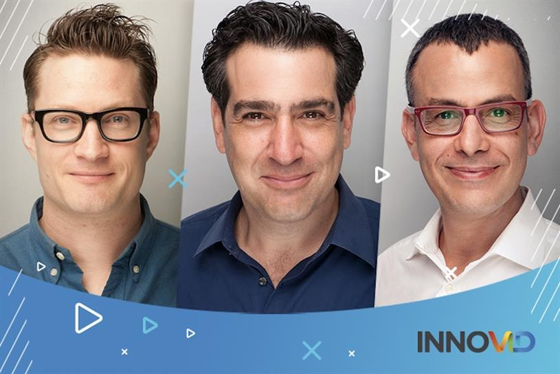 Tal Chalozin, CTO and co-founder (left), Zvika Netter, CEO and co-founder (center), Zack Zigdon, managing director, international and co-founder (right). (Credit: Innovid)