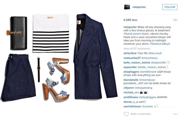 Net-a-Porter is targeting audiences with the new Instagram ads API.