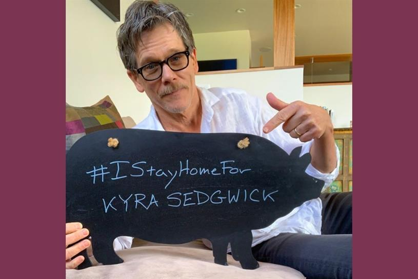 Kevin Bacon and others want you six degrees for #IStayHomeFor challenge