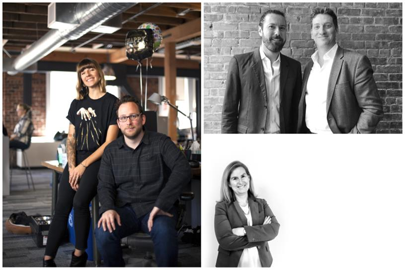 L to R (clockwise): 215 McCann creative directors Nichole Geddes and Brad Meyers, Kinetic co-CEOs Michael Lieberman and Cedric Bernard, CTP managing director Majja Dennis