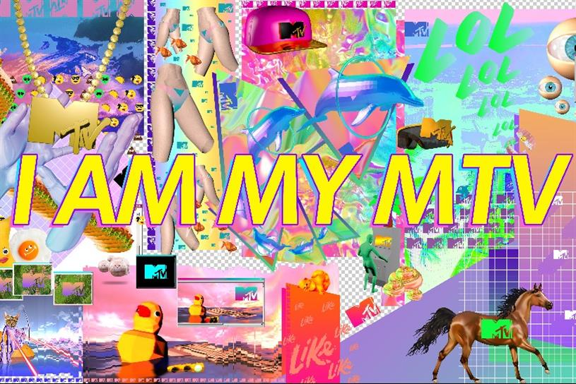 MTV: embraces the internet's visual language.