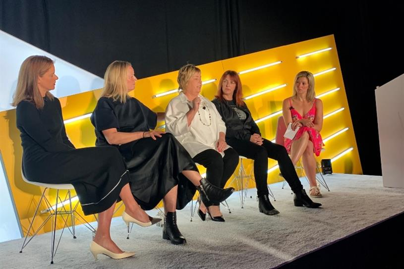 Chase's Chief Brand Officer Leanne Fremar; Droga5's Global Chief Executive Officer Sarah Thompson; Hershey's Chief Marketing Officer Jill Baskin; Harley Davidson's Chief Marketing Officer Heather Malenshek; Campaign US Editor Lindsay Stein