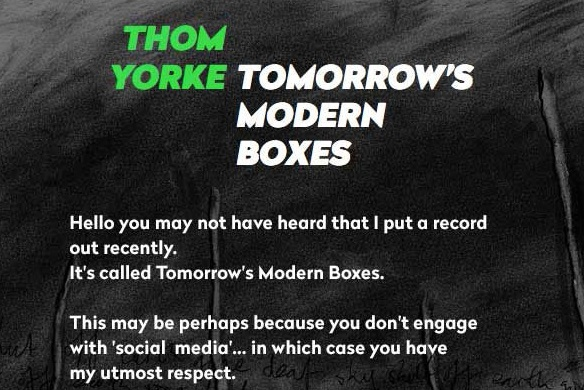 Thom Yorke emailed fans to tell them about his new album release.