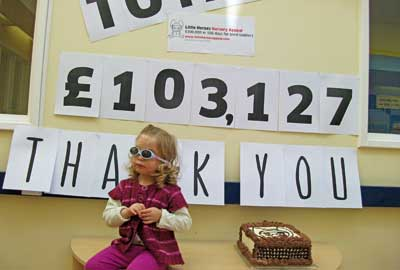 Supporters donated by text to expand nursery for blind children