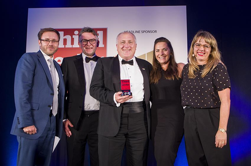 The Brain Tumour Charity won Charity of the Year