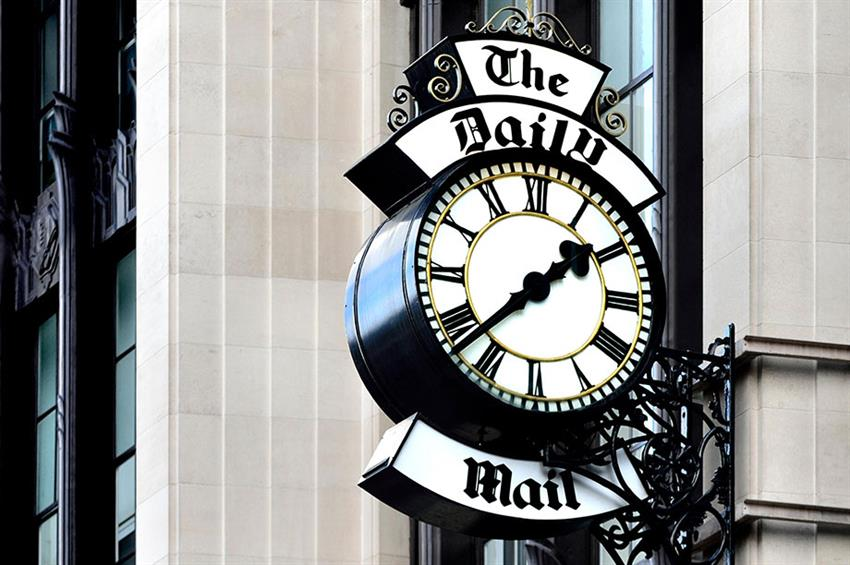 The Daily Mail clock (Photograph: PjrTravel/Alamy)