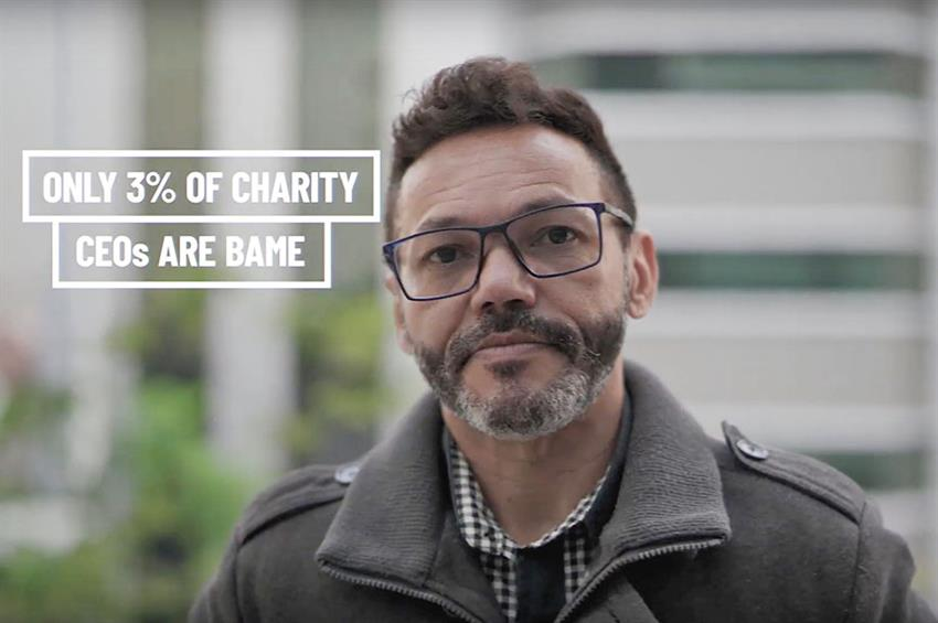 Screenshot from the Institute of Fundraising's Change Collective video