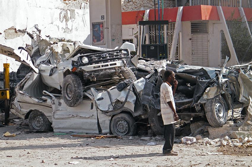 The aftermath of the 2010 Haiti earthquake