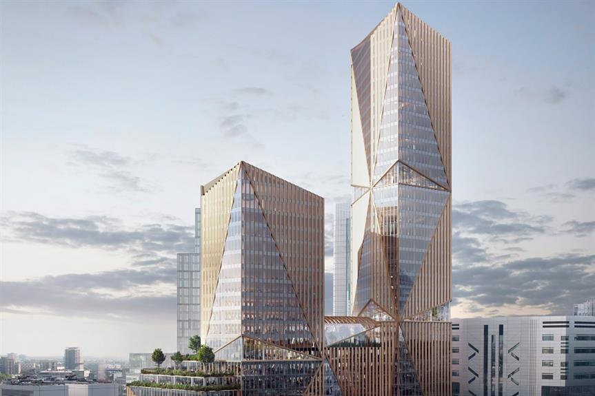 A visualisation of the 2 Finsbury Avenue development - image: 3XN