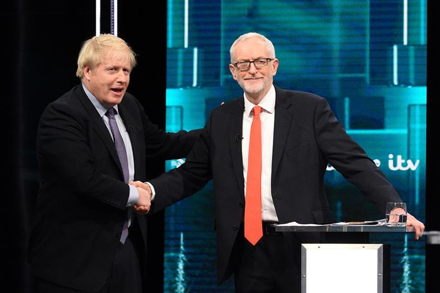 Boris Johnson (left) and Jeremy Corbyn. Pic: Getty Images