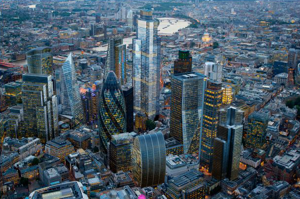 22 Bishopsgate, at the centre of the City of London's eastern cluster of tall buildings