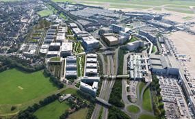 A visualisation of Manchester Airport City