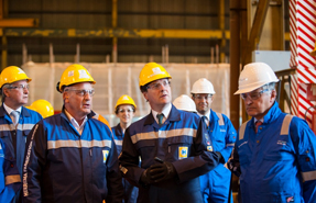 Strategic role: Osborne, pictured in Hartlepool, will ask LEPs to prepare 'local growth' plans