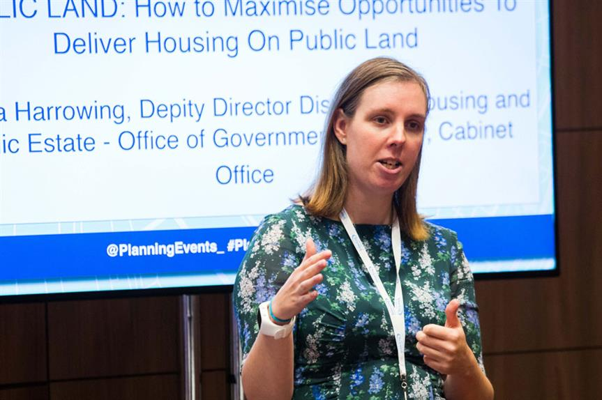 Angela Harrowing speaking at the Planning for Housing conference yesterday