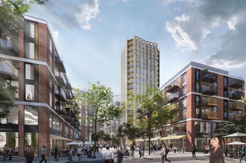 A visualisation of the Anglia Square scheme - image: Weston Homes