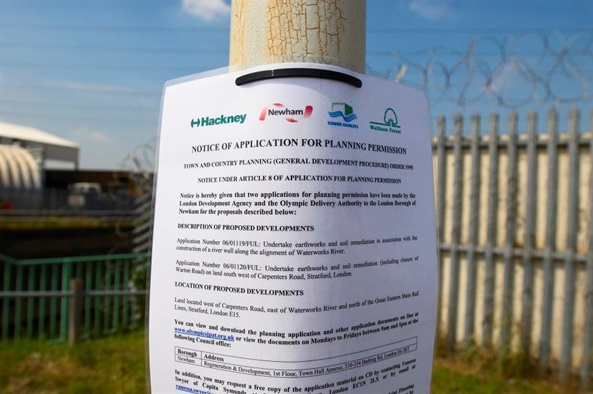 An application site notice. Pic: Getty Images