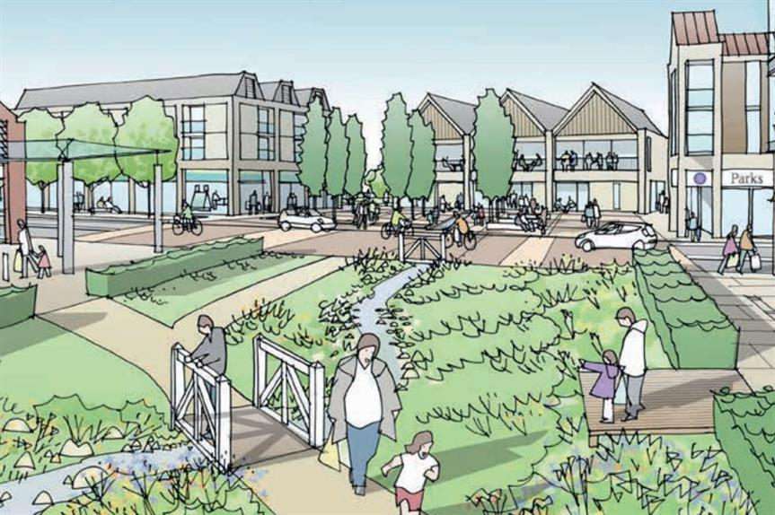 A visualisation of the finished Attleborough urban extension (pic: Ptarmigan Land)