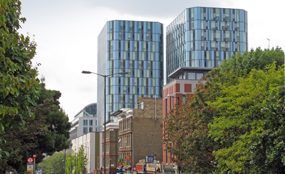 Nido Kings Cross: this former office block in central London has been converted into flats, commercial space and retail units. Ian Bottle photo
