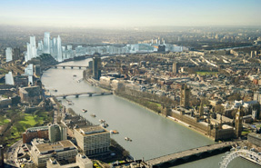 Visualisation: London's future skyline at Nine Elms on the South Bank