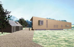 Proposed farm home: high-quality design. Modece Architects and TLP Woodbridge pic