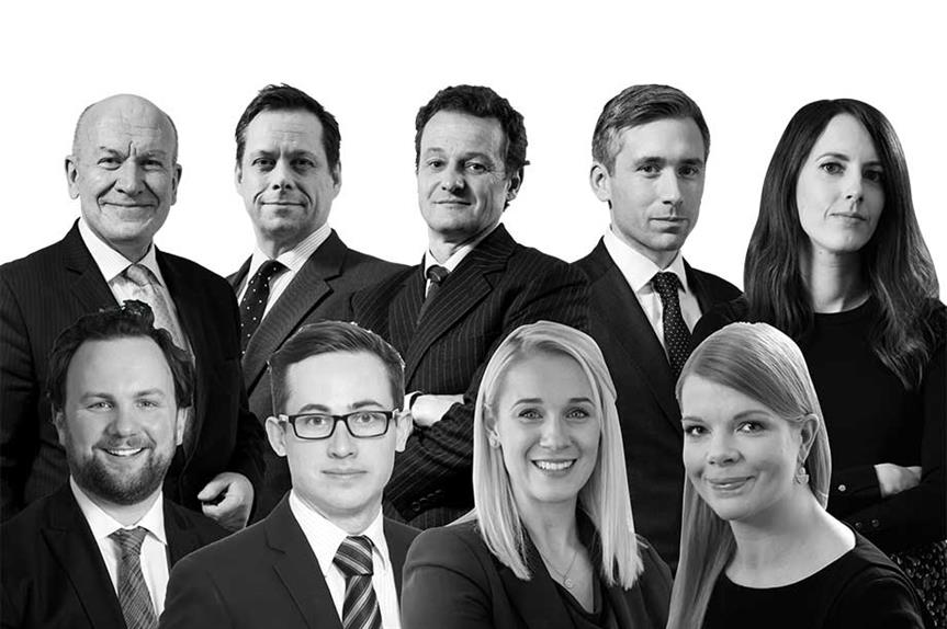 Top row (l-r) Cristopher Katkowski, Rupert Warren QC, Christopher Young, Richard Turney, Rebecca Clutten; Second row (l-r) Zack Simons, Killian Garvey, Thea Osmund-Smith, Heather Sargent.