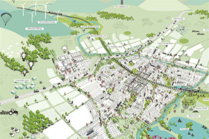 A visualisation from the Barton Willmore design concept
