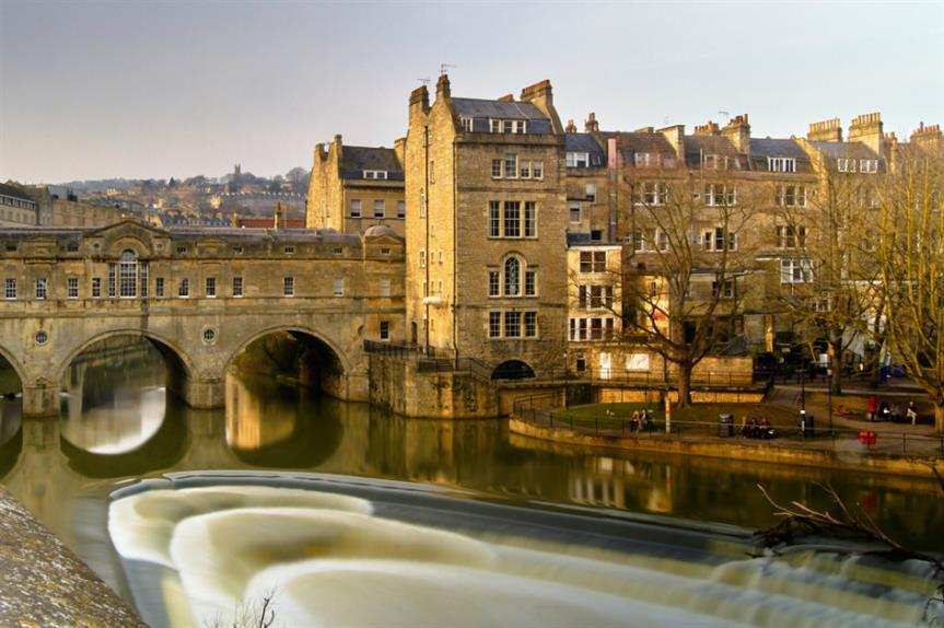 Bath city centre. Image credit: Pedro Szekely