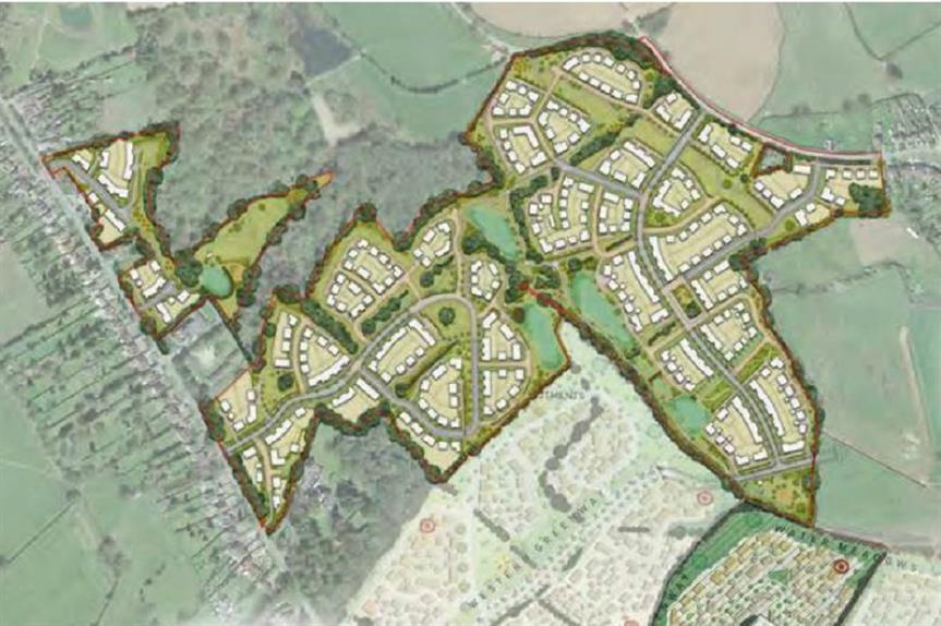 An illustrative masterplan of Bellway Homes' Keresley proposal. (Pic: Bellway Homes/IDP)