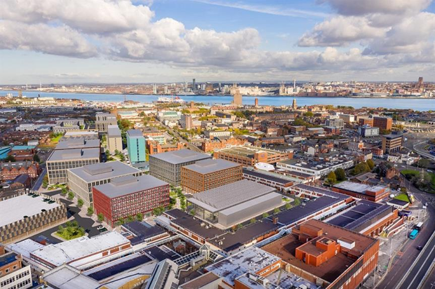 A CGI of plans for the regeneration of Birkenhead town centre. Image: Wirral Growth Company