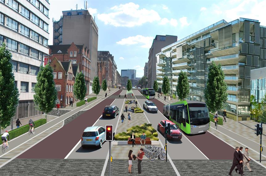 A visualisation of Birmingham Connected proposals