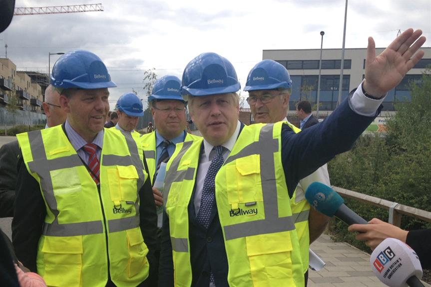 London mayor Boris Johnson at the launch of the London Infrastructure Plan in east London in July