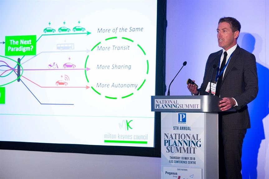Brett Leahy, head of planning at Milton Keynes Council, speaking at the National Planning Summit