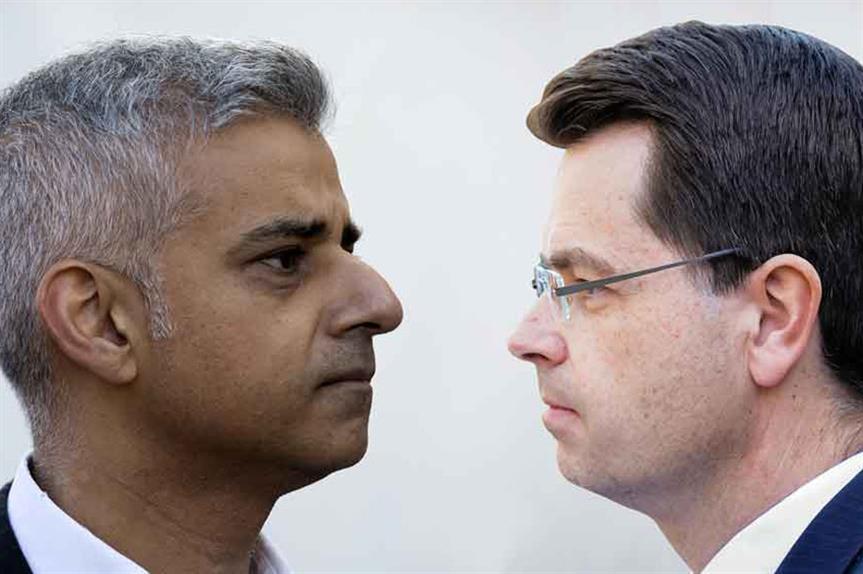 London mayor Sadiq Khan and housing secretary James Brokenshire