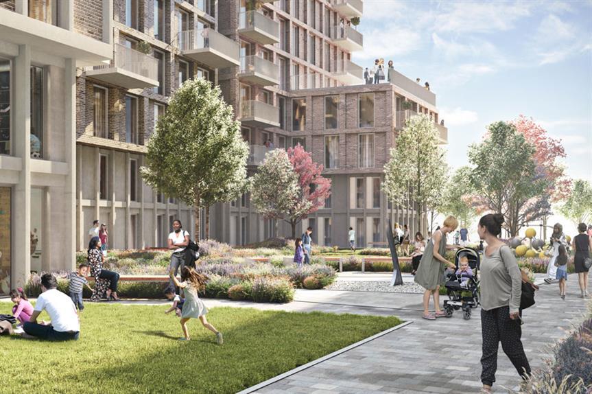 A visualisation of the finished Charlton Riverside development