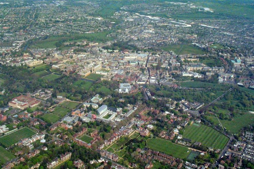 Aerial view of Cambridge - image: Cmglee (CC BY-SA 3.0)