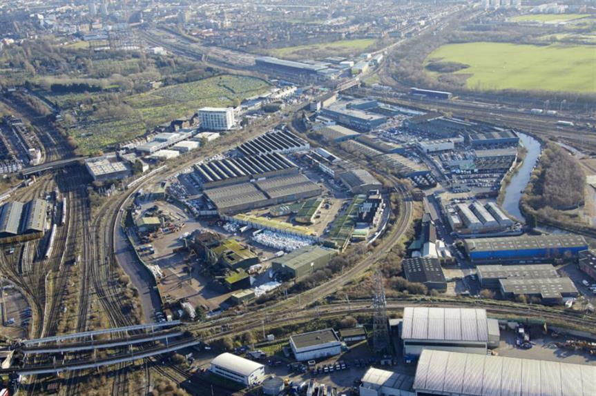The Cargiant site in the Old Oak and Park Royal Development Corporation area. Image: Cargiant