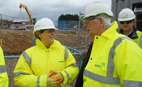 Vital role: Richard Summers joins planners on a recent visit to a Bracknell Regeneration Partnership redevelopment project