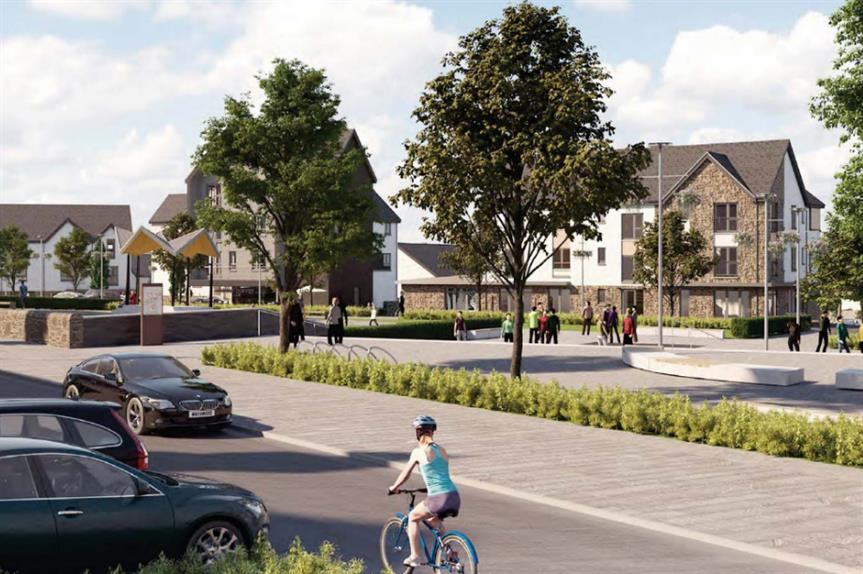 A CGI of plans for 3,000 homes at Durieshill. Image: Springfield Properties
