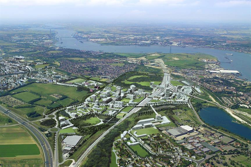 Ebbsfleet: proposed garden city