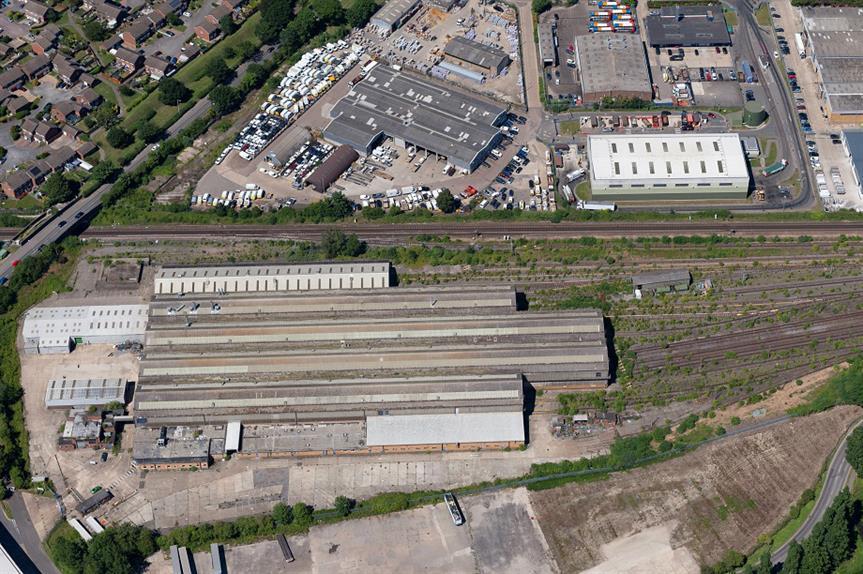 The former Bombardier factory site in Beaver Lane, Ashford. Pic: Ashford Borough Council