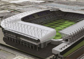 Windsor Park: artist's impression of the proposed redevelopment
