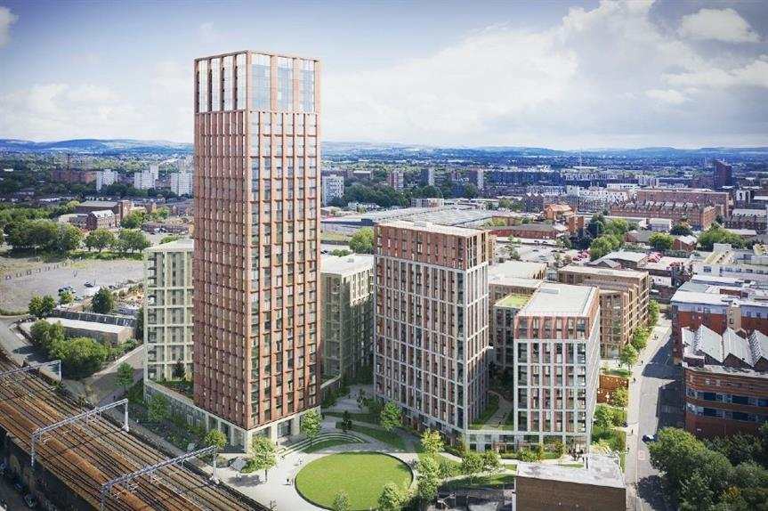 A visualisation of the proposed scheme in Manchester city centre - image: MCR Property Group