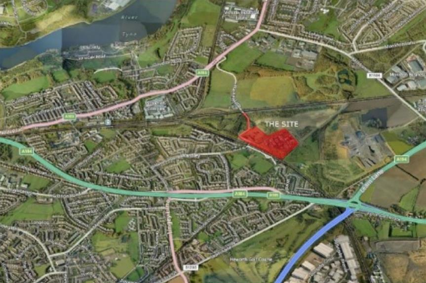 Location of the former Wardley Colliery site.