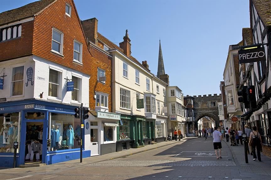 Salisbury town centre: new rights open new options to convert shops and restaurants to homes ©Getty Images