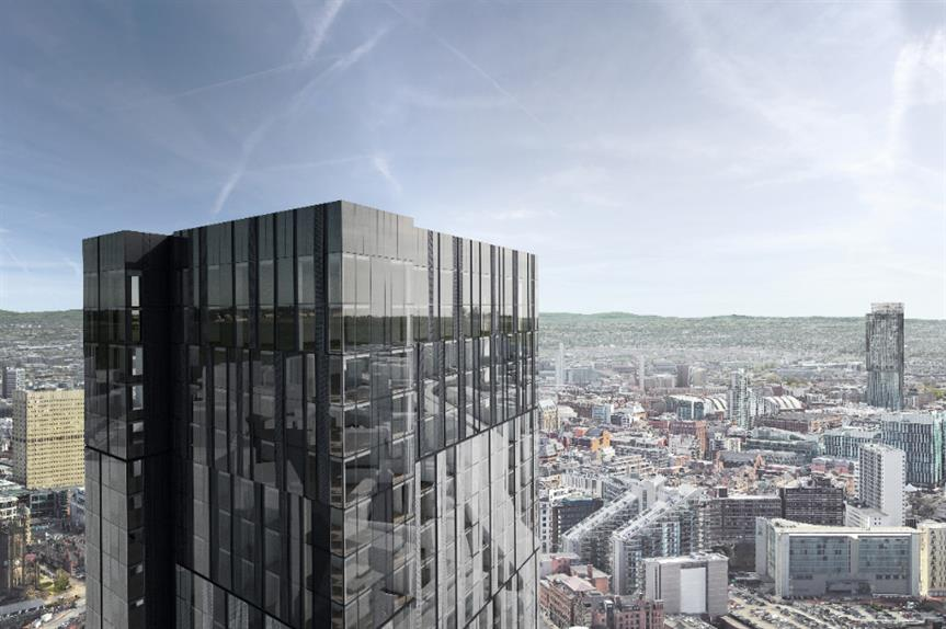 A CGI of the proposed tower in Salford's Greengate. Image: AQ Invesments